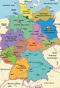 Карта Германии. Столица - Берлин.