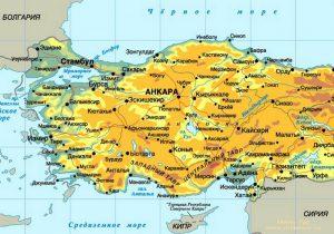 Карта Турции. Столица - Анкара.