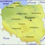 Карта Польши. Столица - Варшава.