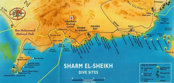 Карта Шарм-Эль-Шейха