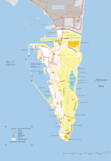 Карта Гибралтара. Столица - Гибралтар.